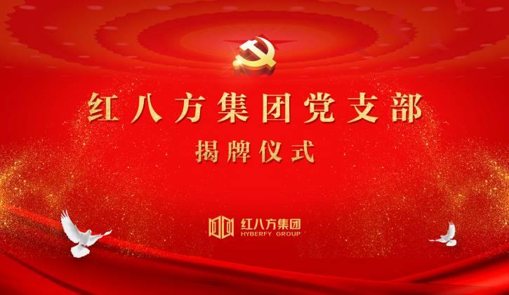 红八方集团党支部揭牌仪式圆满成功